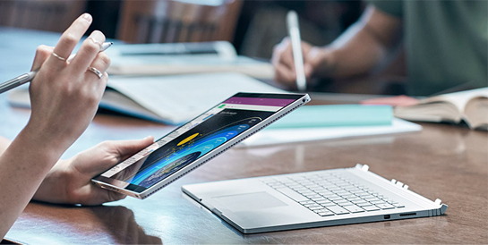 Microsoft surface book performance i7 16 go 1 to for Surface de bureau par personne